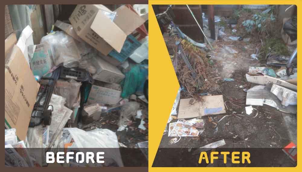 引越しに伴い不要となった家財一式とゴミの処理にお困りのお客様からご依頼いただきました。