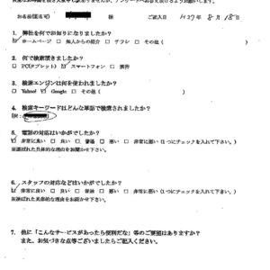 藤沢市にて粗大ごみの回収処分のご依頼 お客様の声