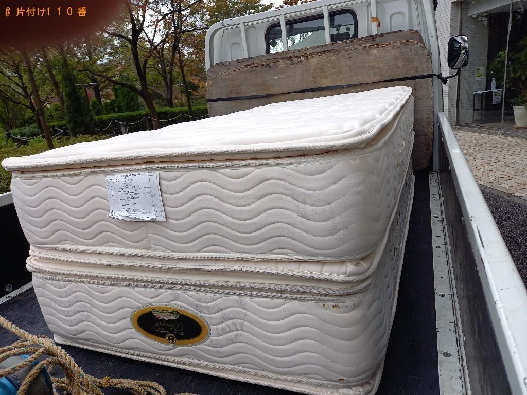 【横浜市都筑区】シングルベッドマットレスの回収・処分ご依頼