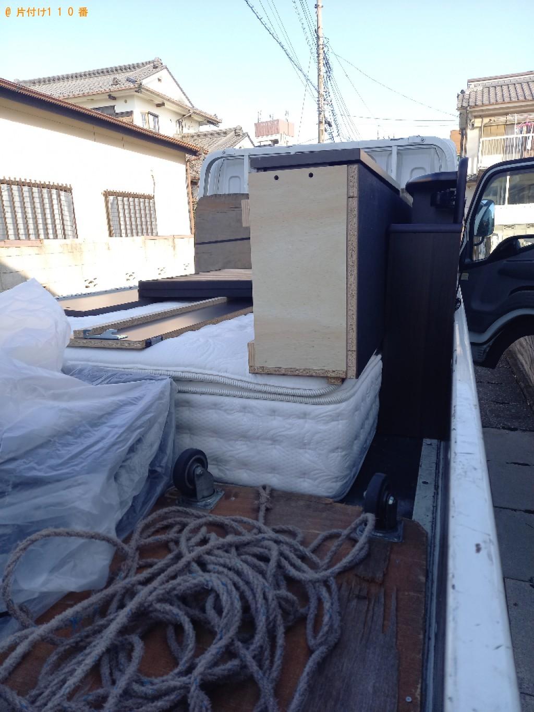 【川崎市中原区】マットレス付きダブルベッドの回収・処分ご依頼