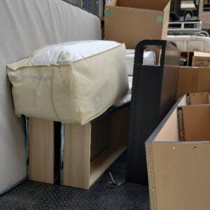 【川崎市】カラーボックス、マットレス付きセミダブルベッド等の回収