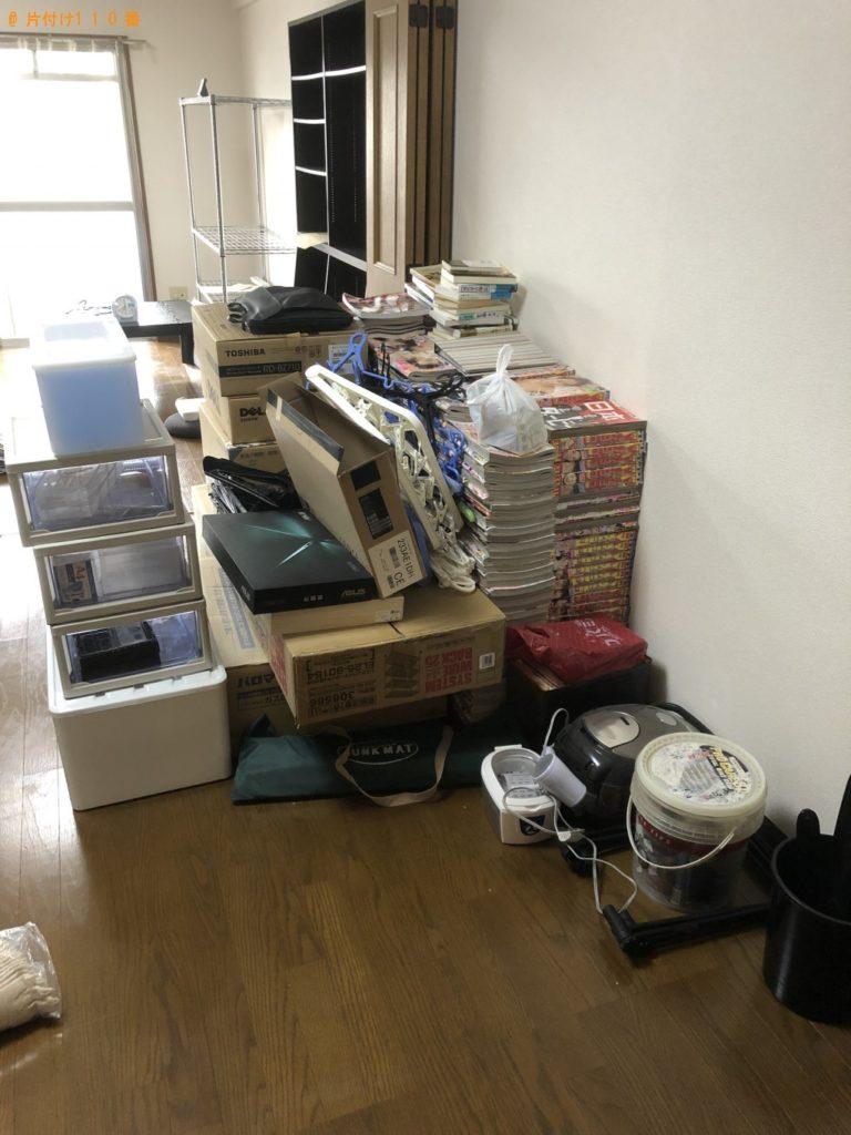 【三浦市】遺品整理に伴いパソコン、こたつ、本棚、カラーボックス等の回収・処分