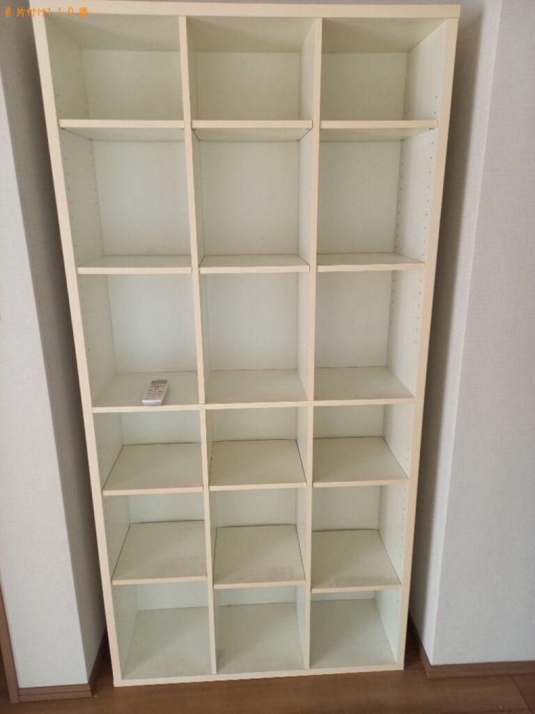 本棚、マットレス付きクイーンベッド等の回収