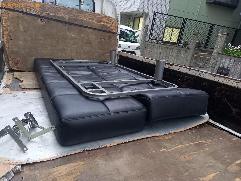 【川崎市中原区】三人掛けソファーの回収・処分ご依頼 お客様の声