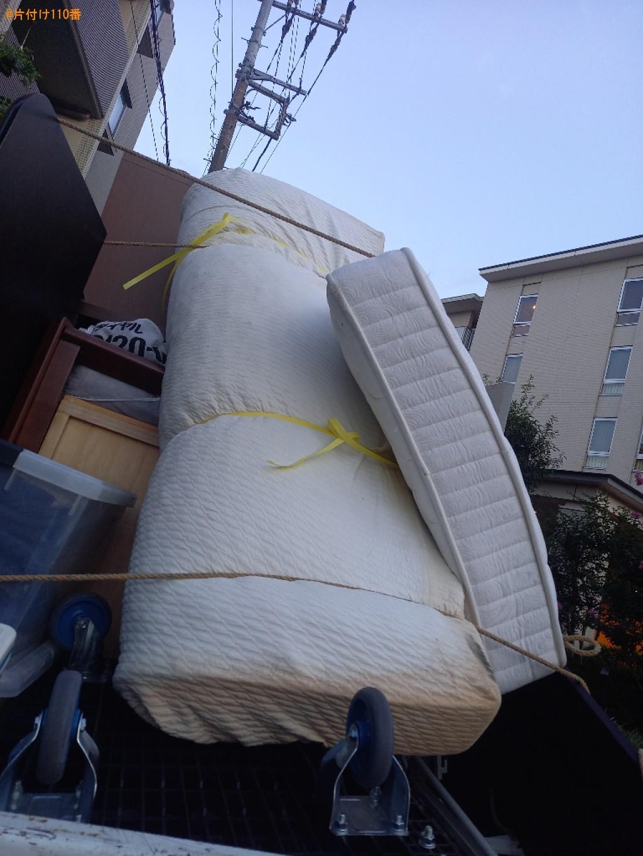 【川崎市】マットレス付きセミダブルベッドの回収・処分ご依頼