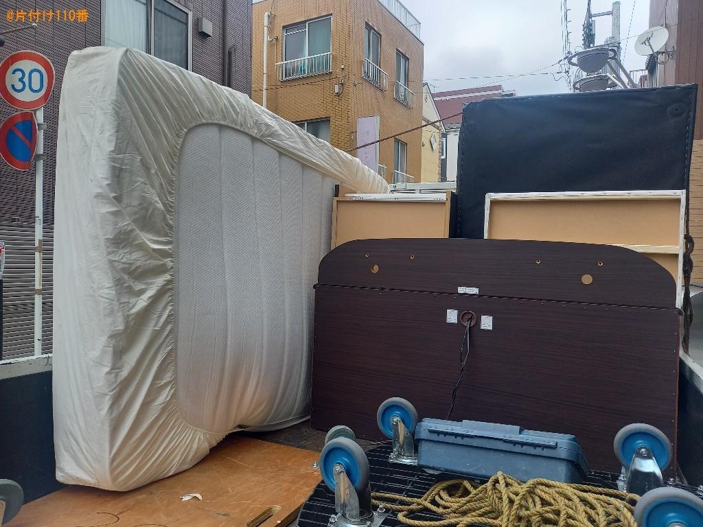 【川崎市川崎区】ソファー、マットレス付きベッドの回収・処分ご依頼